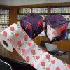 Tecido de banheiro impresso flor dos Valentim do papel higiénico