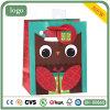 Sac de papier de Gife de sac de Noël de sabot vert de hibou