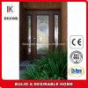 Heiße verkaufende preiswerte kundenspezifische hölzerne Eintrag-Tür mit bereiftem Glas
