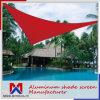 수영풀, 정원, 옥외를 위한 빨간 그늘 돛 및 운동장