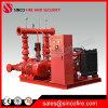 Pompe à eau emballée par Jackey électrique diesel de lutte contre l'incendie
