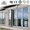 Portes en verre en plastique de tissu pour rideaux de mode d'usine de la fibre de verre bon marché neuve UPVC/PVC des prix avec des intérieurs de gril à vendre