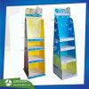 Europa juguetes expositor de cartón con estantes y ganchos para promoción publicitaria, China cartón Fabricante de pantalla