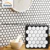Mattonelle di mosaici esagonali bianche della ceramica del Matt del mosaico interno della decorazione