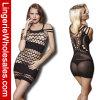 Frauen-schwarzes Perspektive-Kleidreizvoller Fishnet Bodystocking