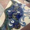 Blue Stone Border Marble Medallion by Waterjet