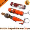 De Aandrijving van het Leer USB van de Gift van het Embleem van de Douane van Fullcolor/het Munten (yt-5104)