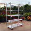 Tc0902m, Greenhouse Trolley, Metal Flower Pot Rack, Folding Cart, Gardern Trolley, Trolley Cart, Trolley Wheel, Tool Trolley
