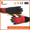 Ddsafety 2017 schwarze Latex-Schaumgummi-Doppelt-Handschuhe mit roter Zwischenlage