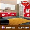Roter Bottom White Flower UVMDF für Kitchen Cabinet Door (ZHUV)