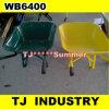黄橙色の緑色Wb6400の一輪車