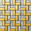 "1X2 "" Gold MetalのSilver Leaf Glass Mosaic"