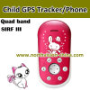 Niño GPS Tracker con Phone Function, Low RF&Smart Alert, Voice Tiempo, Alarm, Tracking Verdadero-Time, SOS