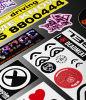 Шелк трафаретной печати логотипа на наклейке (HX-ПВХ-20)