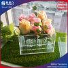 Rectángulo de regalo de acrílico transparente popular del precio barato para las flores de Rose