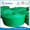 Tuyau plat étendu par PVC de haute résistance de vert d'excellente qualité
