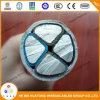 600/1000V 4 isoleerde de Kern XLPE de Witte pvc In de schede gestoken Stevige Kabel van het Aluminium