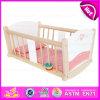 Melhor venda Pretend Play Cama de madeira de madeira / berço de balanço de madeira / berço de madeira Baby W06b036