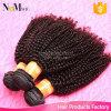 Cabelo humano Kinky Curly do Afro barato de trama Kinky brasileiro da máquina das extensões do Weave do cabelo Curly do Afro nenhum derramamento de nenhum emaranhado