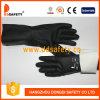 En néoprène noir gaufré de nettoyage domestique Grip Poignet long des gants de sécurité