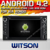 KIA Rondo (W2-A7517)를 위한 Witson Android 4.2 System Car DVD