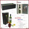Sola caja de presentación del vino de la botella del Tapa-Fin (5952)