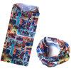 Bandeau de couleur chamois multifonctionnel adapté aux besoins du client de polyester de dessin animé imprimé par conception
