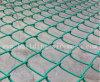 電流を通されたチェーン・リンクの塀(ダイヤモンドの金網)、PVCはチェーン・リンクの塀に塗った