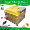 CE chaud approuvé la vente d'incubateur portatif 96 Incubateur d'oeufs pour la vente (KP-96)
