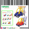 Carrello d'acquisto del carrello dei bambini di plastica sistemabili del supermercato per i capretti