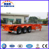 Semi-Trailer esqueletal do recipiente de 40feet 3axles