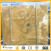 自然で黄色い蜂蜜のオニックスの壁の大理石の平板