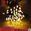 Luz de borracha ao ar livre da corda dos 10m 100LEDs da decoração do Natal da iluminação do diodo emissor de luz