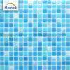 Schillernde blaue Swimmingpool-Fliese-preiswerte Glasmosaik-Fliese