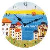 Horloge murale en céramique, horloge murale revêtue de sublimation