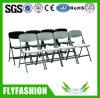 Sf-40f 간단한 플라스틱 무방비 겹쳐 쌓이는 의자 접는 의자 회의실 사무실 의자