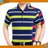 Mann-Garn-Farben-Streifen-Polo-Hemd-Baumwollpikee-Polo-T-Shirts
