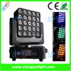 25X12W RGB-W Matrix LED Moving Head Wash Light