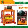 Maquinaria de pavimentação concreta do bloco do tijolo Qtj4-40 para a venda