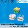 Кабельный соединитель проводника Cu Al 3 Poles электрический (KE61.4)