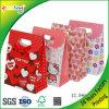 Bolsas de papel florales elegantes modificadas para requisitos particulares del regalo con tirón