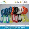Étiquette plastique-élastique de la longe W/Name d'enroulement de corde de bande