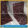 磨かれたRosso Lepantoの赤く大きい大理石の床および壁のタイル