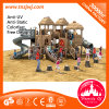 Campo de jogos ao ar livre de madeira do equipamento de jogos da área de jogo dos miúdos Eco-Friendly