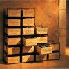 Con/sin del estante del vino de los compartimientos del desarrollo las cajas del vino