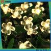 Luz solar de la decoración LED de la flor para la Navidad