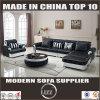 Италия верхней части зерна кожаный диван в гостиной мебели (LZ-069)