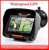 Экран касания водоустойчивое противоударное Sunproof навигатора навигации GPS автомобиля мотоцикла навигатор GPS водоустойчивое 8GB 4.3 Nav Bluetooth ATP020