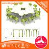 Mobilier de table pour enfants Table à trois feuilles combinée en plastique