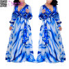 Moda Summer New Women's Blue Ramona Wrap Dress L51407